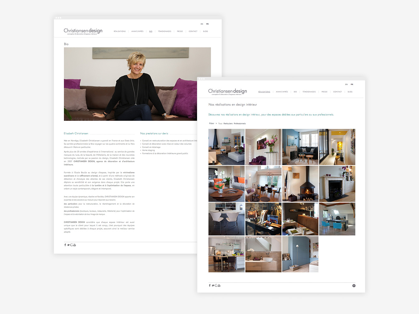 Christiansen design - Site Web Détails