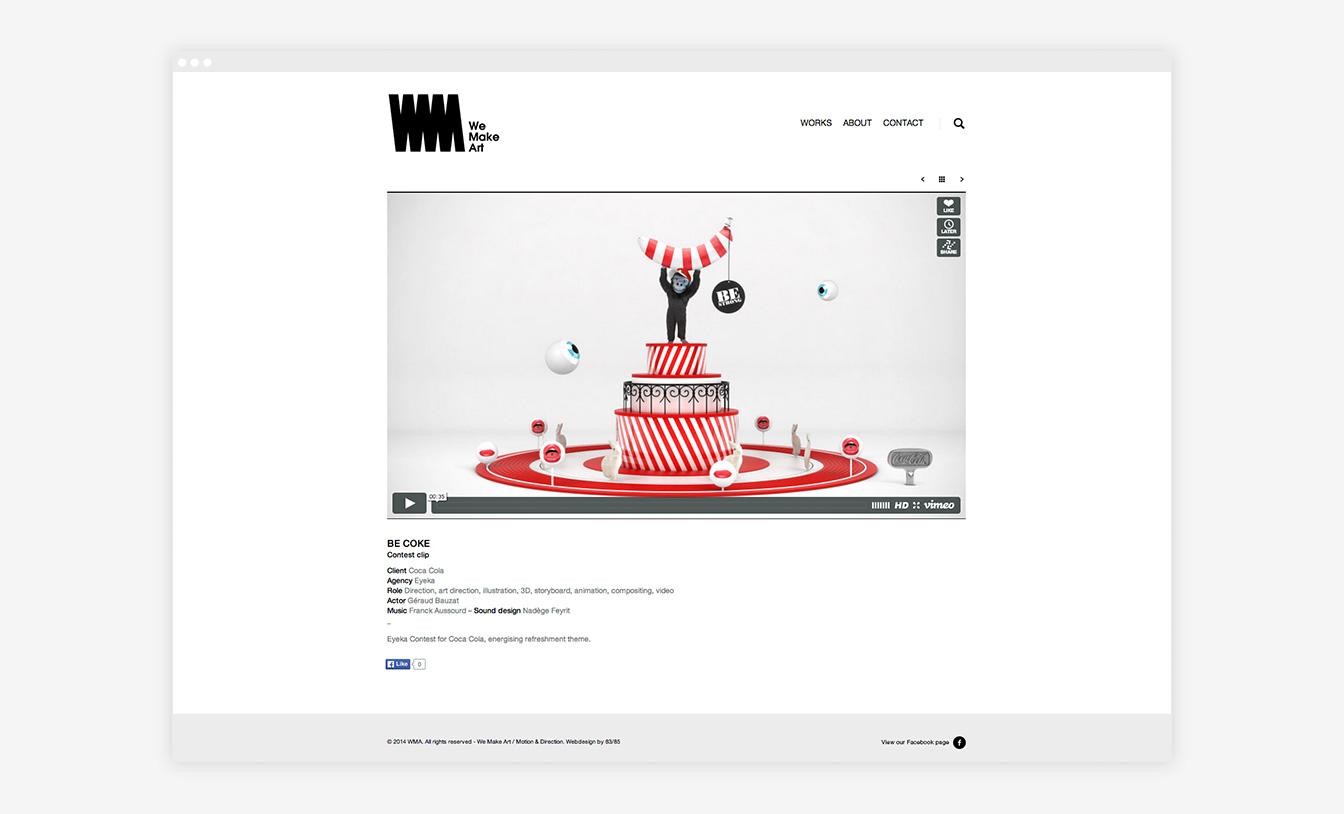 We Make Art - Site Web Détails