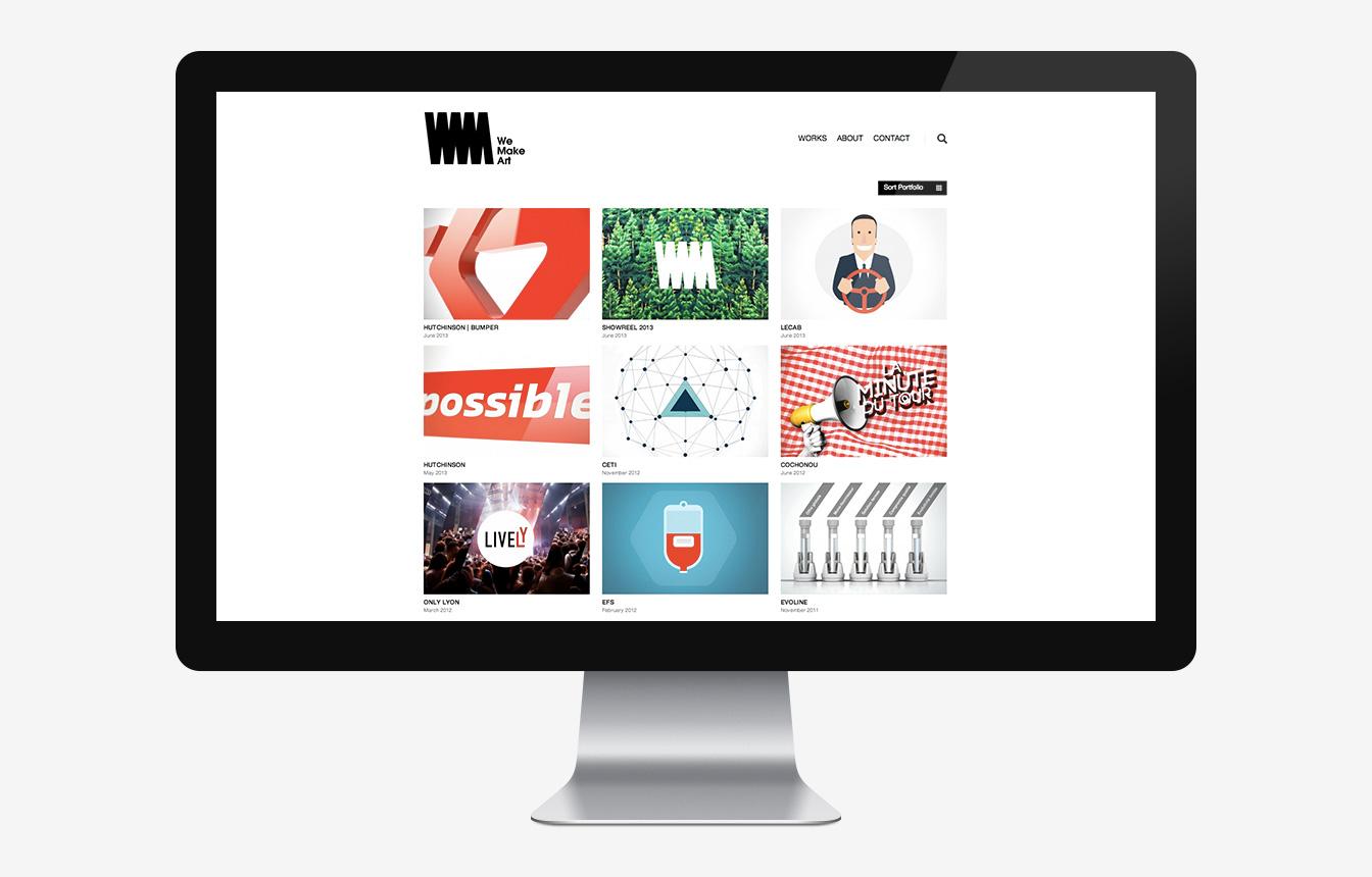 We Make Art - Site Web